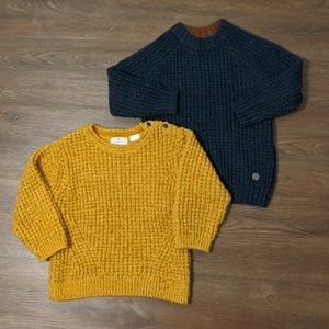 2 for $20 Boys Knit Sweaters Yellow and Blue
